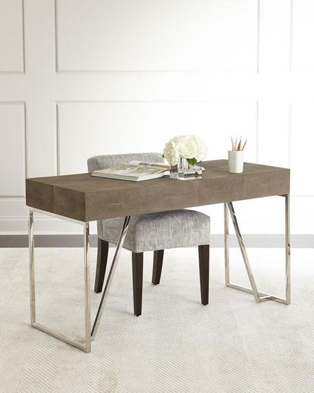 Mitzi Faux-Shagreen Desk