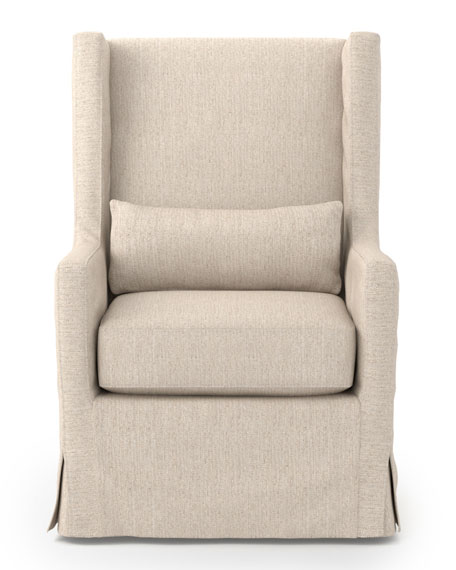 Judith Linen Swivel Chair