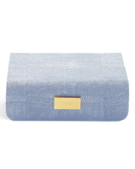 AERIN Blue Modern Shagreen Small J