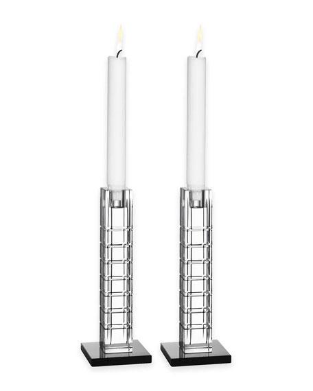 Street Candleholders, Set of 2