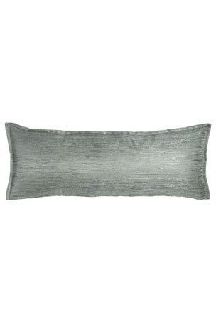 "Fino Lino Linen & Lace Woodmere Pillow, 12"" x 32"""