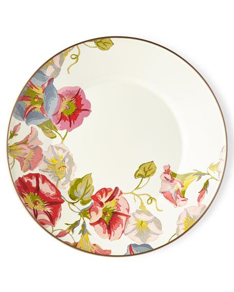 MacKenzie-Childs Morning Glory Dinner Plate