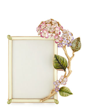 Jay Strongwater Gail Hydrangea Picture Frame 5 X 7