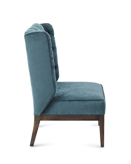 Image 2 of 3: Old Hickory Tannery Zaza Tufted-Back Chair