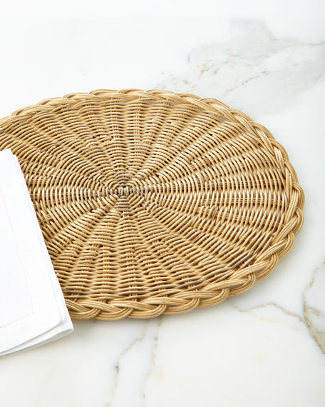 Juliska Braided Basket Oval Natural