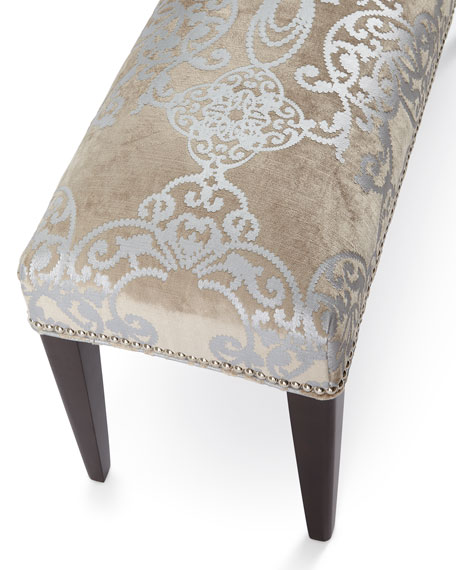 Image 2 of 3: Haute House Sofia Silver Bench