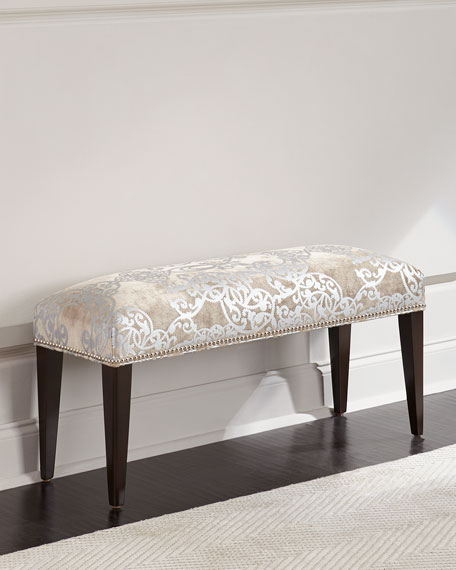 Image 1 of 3: Haute House Sofia Silver Bench