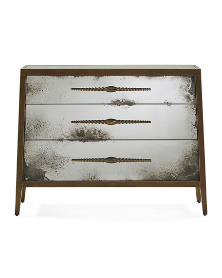 Image 2 of 2: Pascala Mirrored Chest