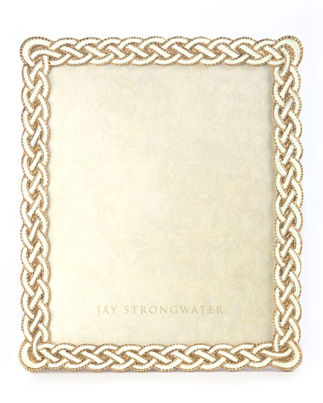 Jay Strongwater Cream Braided Frame, 8