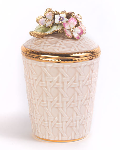 Jay Strongwater Hydrangea Trellis Candle