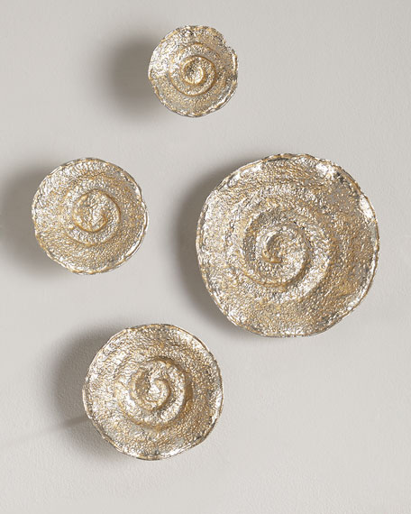 John-Richard Collection Gold Leaf/Nickel Escargot Wall Hangings,
