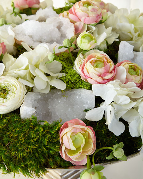 T&C Floral Company Silvertone Urn