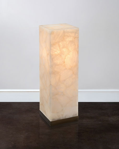 "36""T Lighted Calcite Pedestal"