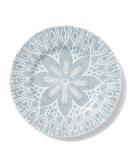 Lace Gray Dinner Plate