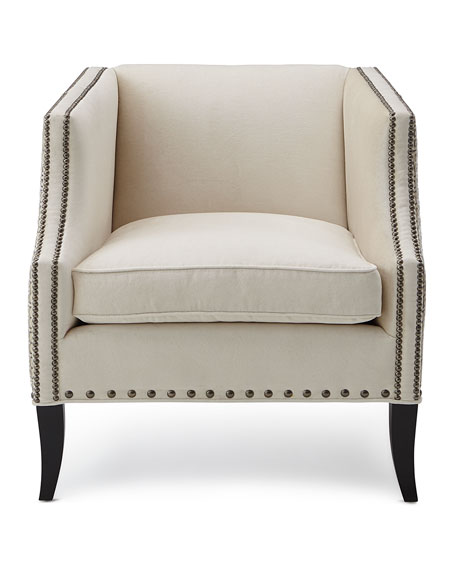 Alanis Leather-Accent Chair
