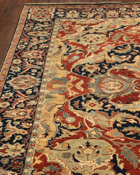 Exquisite Rugs Bergeron Antiqued Weave Serapi Rug, 6'