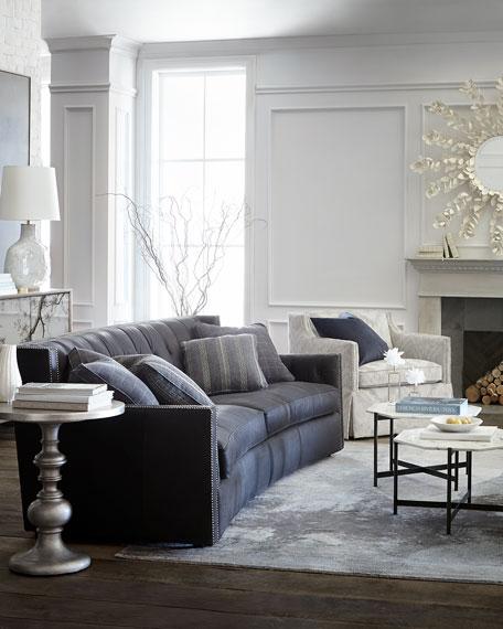 "Bernhardt Madeline Tufted Leather Sofa 96"""
