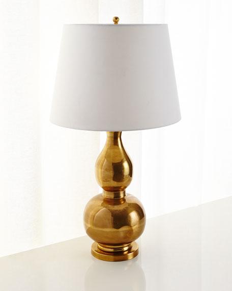 Brass Gourd Table Lamp