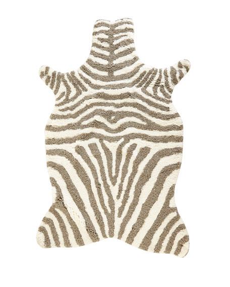 "Lilly Zebra Shag Rug, 3'6"" x 5'6"""