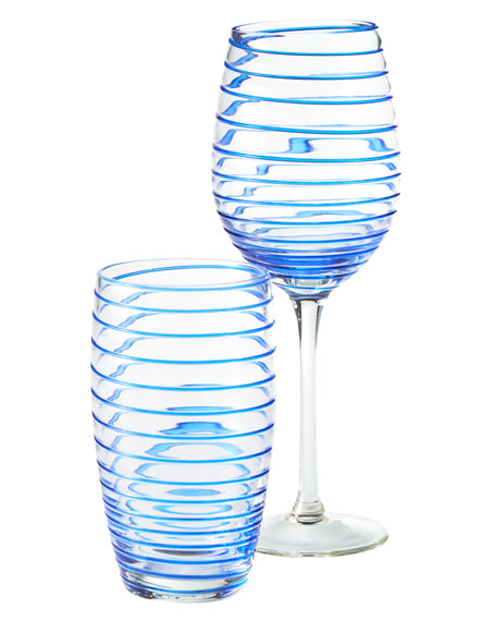 Neiman Marcus Spiral Wine Glasses, Set of 4