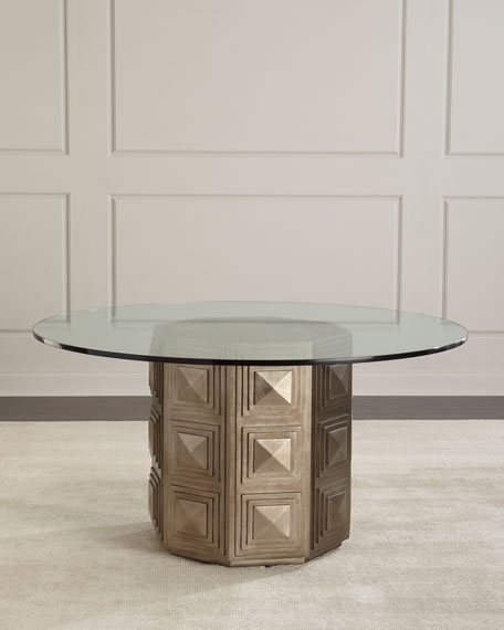 Aletha Glass-Top Dining Table