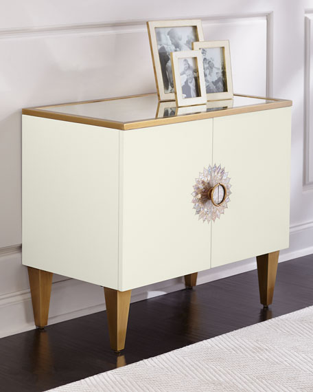 John-Richard Collection Prynne Mirror Top Cabinet