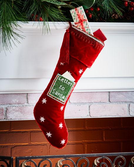 Letter to Santa Velvet Stocking