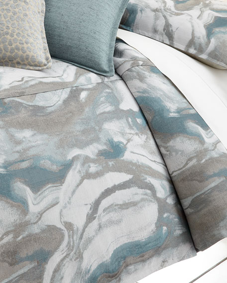 Queen Caspin Marbled Duvet Cover