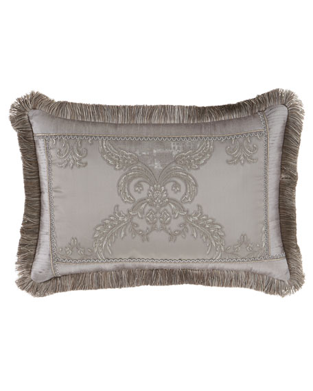 "Austin Horn Collection Prestige Pillow with Brush Fringe, 14"" x 20"""