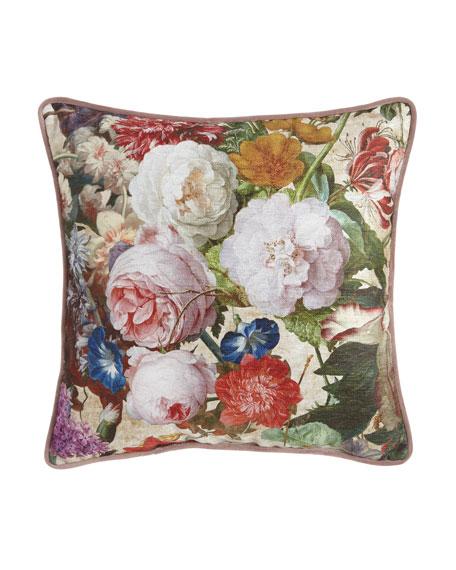 Sherry Kline Home Laila Square Floral PIllow