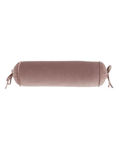 Sherry Kline Home Laila Velvet Neck Roll Pillow
