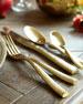 Fortessa 20-Piece Lucca Brushed Golden Flatware Service