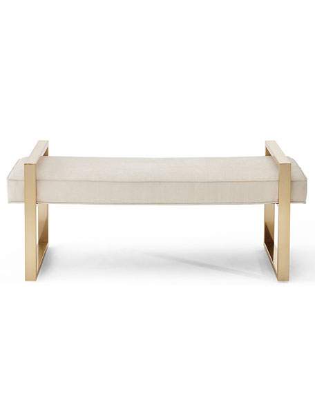Image 2 of 2: Nia Brass Framed Bench
