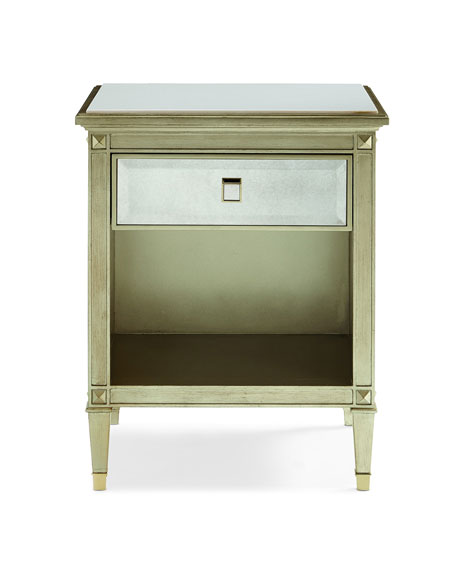 caracole Emilee Antiqued Mirrored Night Stand