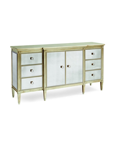 caracole Emilee Antiqued Mirrored Dresser