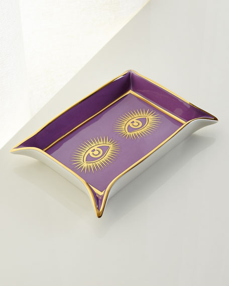 Image 1 of 3: Jonathan Adler Muse Valet Eyes Tray