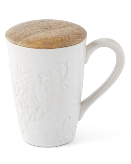 G G Collection Ceramic Mug with Lid, Set