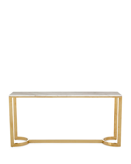 Bernhardt Marquis Marble Console Table