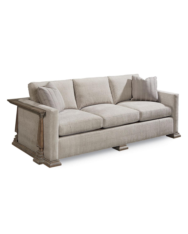 Beau Perla Exposed Wood Frame Sofa