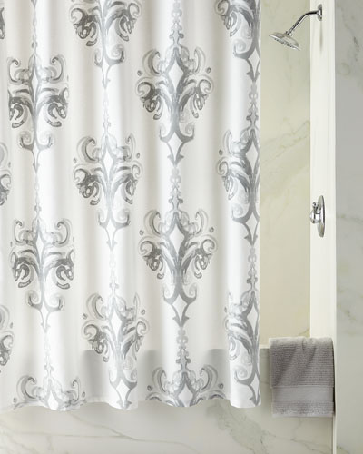 rifiki damask shower curtain - Bathroom Accessories Luxury