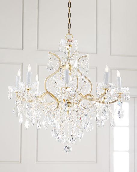Crystorama Maria Theresa 9-Light Clear Crystal Chandelier