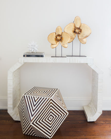 Balbina Bone Inlay Side Table