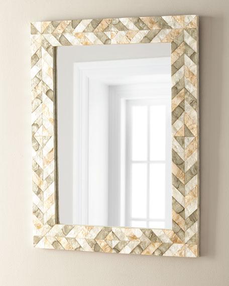 Arrowhead Capiz Shell Mirror
