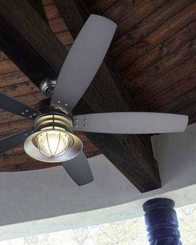 Portico Patio Fan, Silver