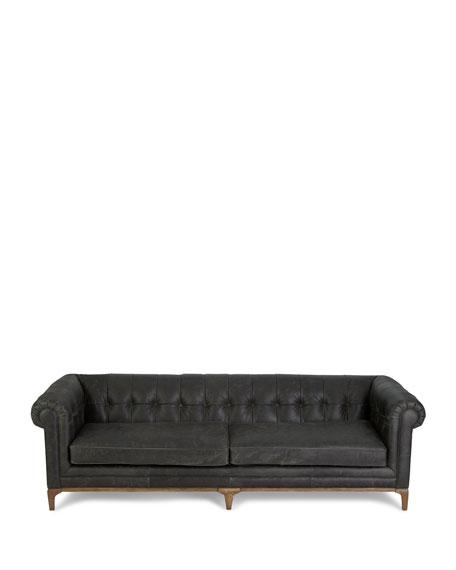 Caprice Tufted Leather Sofa