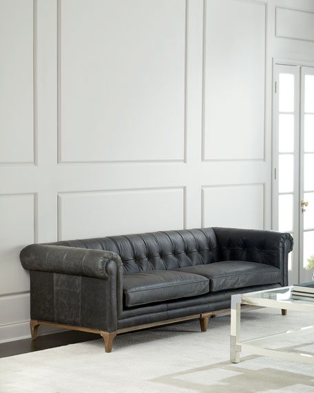 Caprice Tufted Leather Sofa