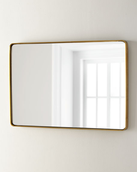 Image 2 of 2: Stainless Steel Curved Rectangle Mirror