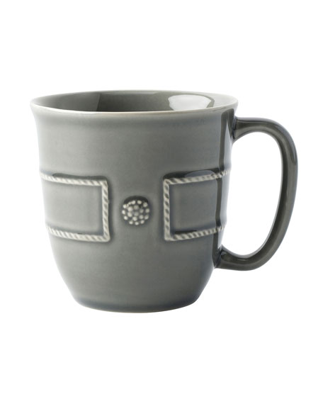 Juliska Berry & Thread French Panel Stone Grey Coffee Cup