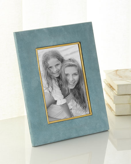 "AZURE Valentina Suede Picture Frame, 5"" x 7"""
