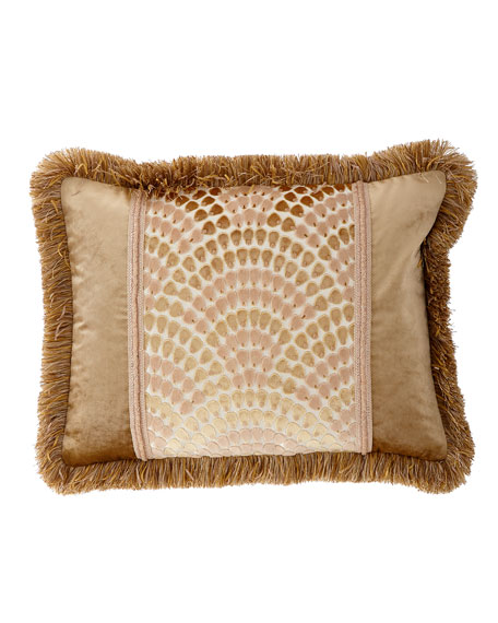 Dian Austin Couture Home Rosamaria King Sham with Fringe